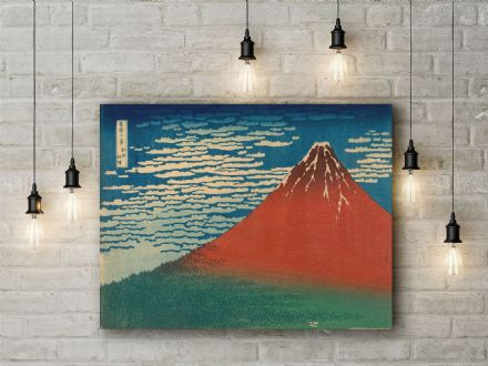 Katsushika Hokusai: Fine Wind, Clear Weather. Fine Art Canvas.
